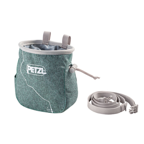 Petzl SAKA Rock Climbing Chalk Bag Green