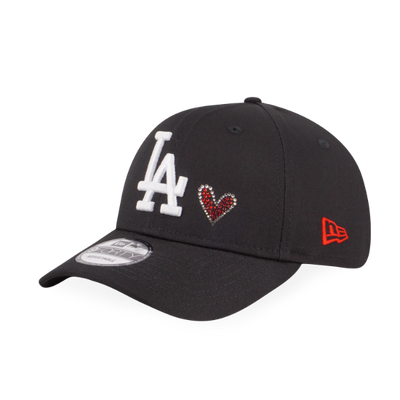9FORTY Heart Swarovski La Dodgers Black - New Era Malaysia