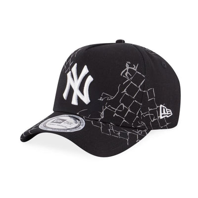 9FORTY New York Yankees Fence Trucker Strapback Black Reflective - New Era Malaysia