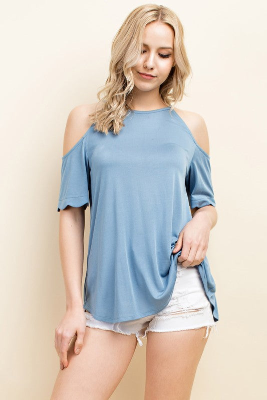 Scalloped Tee - winsome-boutique
