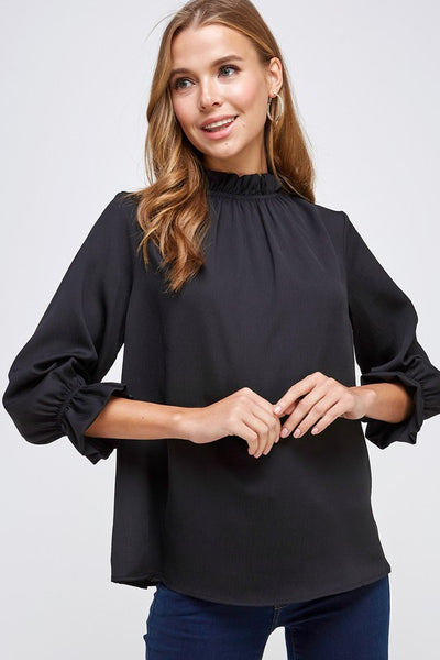 Ruffled Neckline Blouse - winsome-boutique
