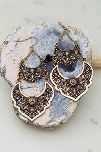 Etched Dangle Casting Earrings
