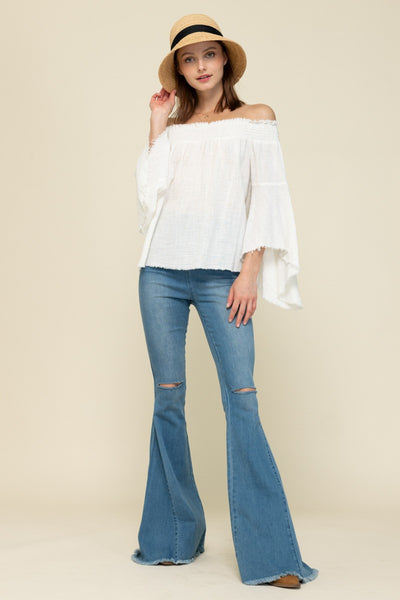 Distressed Bell Bottoms- Medium