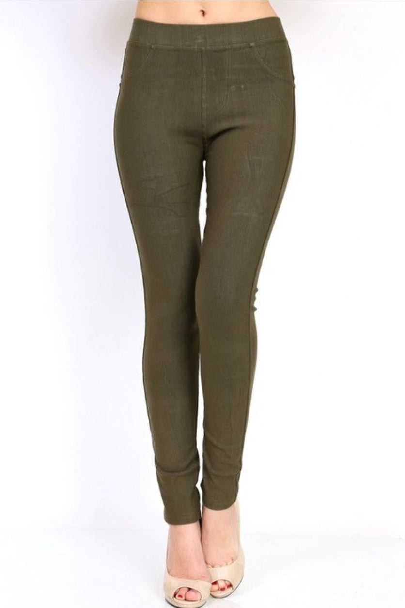 Jeggings-Olive - winsome-boutique