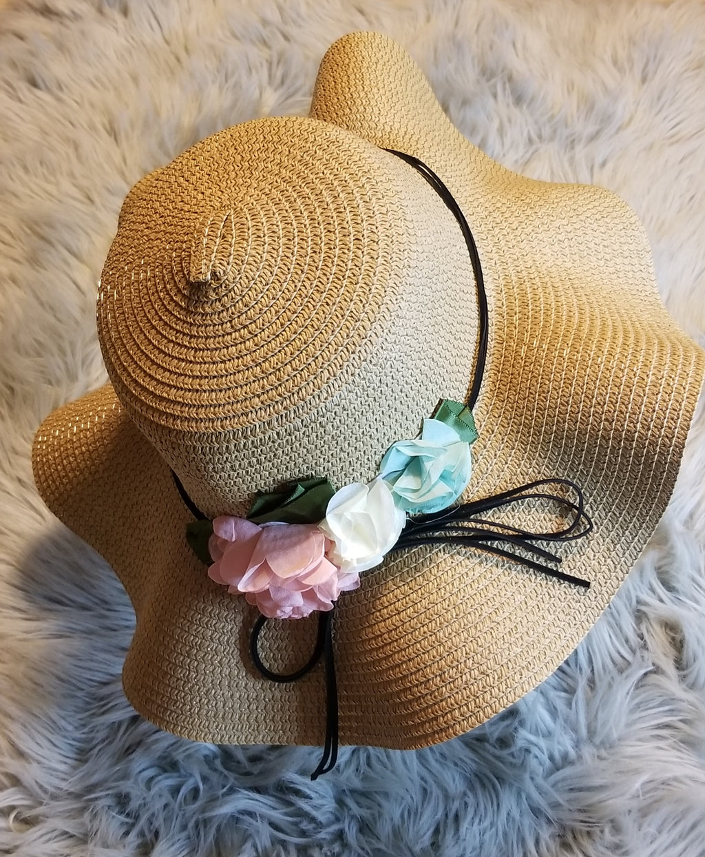 16 Inch Flower Accent Floppy Hat - winsome-boutique