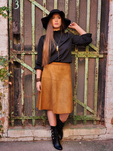 Faux Suede Skirt - winsome-boutique