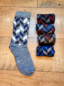 Men's Herringbone 5 Pair Socks Box Set