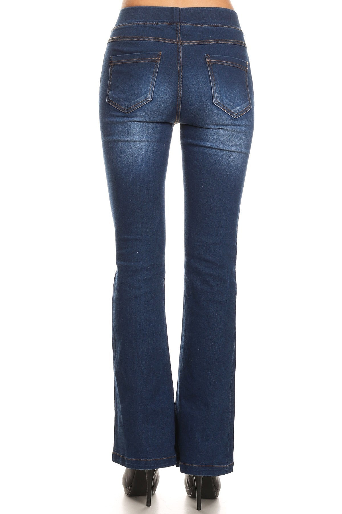 Pull On Flare Jeans - winsome-boutique