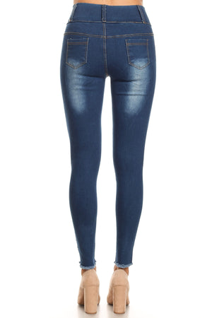 Pull On High Waist Ripped Jeggings - winsome-boutique