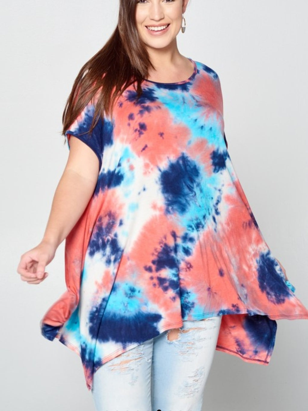 Tie Dye Trapez Top - winsome-boutique