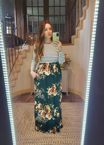 ITY Striped Animal Maxi Dress Combination