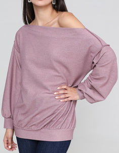 Long sleeve Off Shoulder Top - winsome-boutique