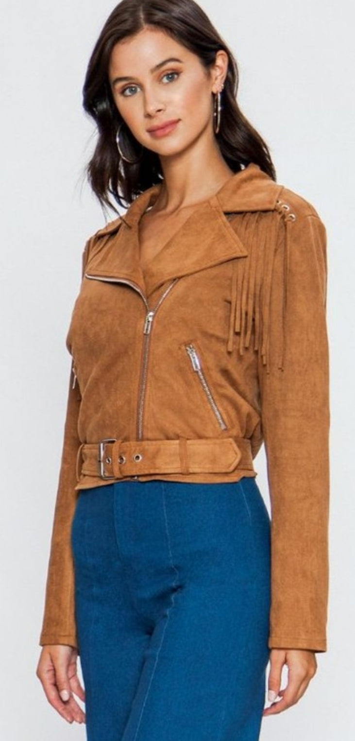 Faux Suede Jacket - winsome-boutique