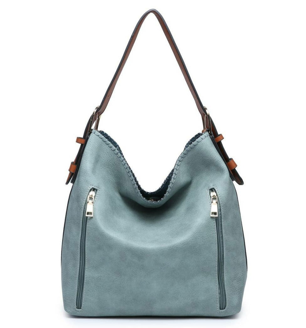 2 in 1 Concealed Carry Hobo Bag- Teal