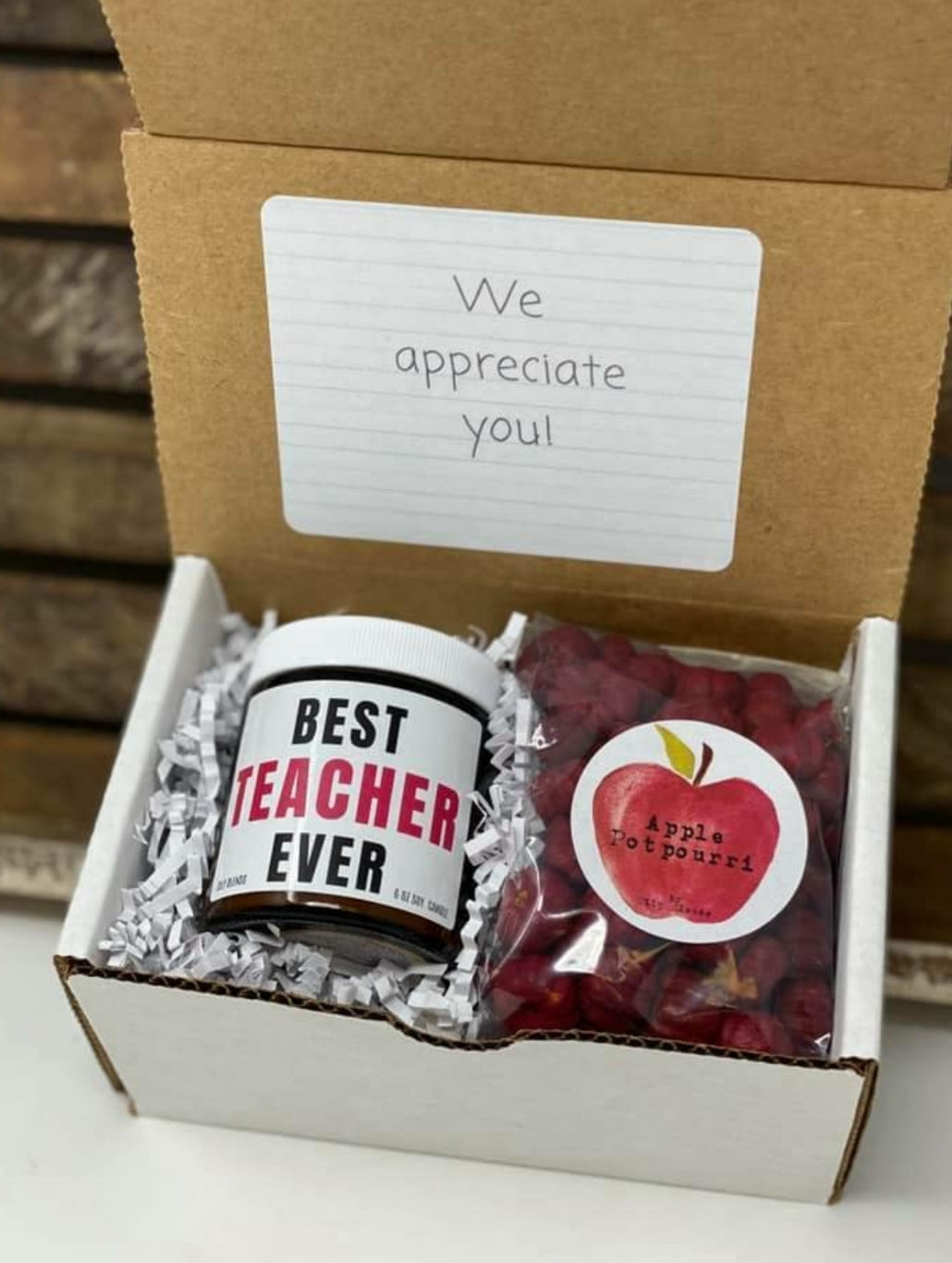 Best Teacher Ever Gift Box