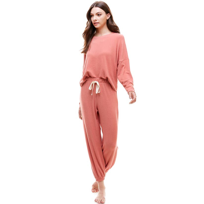 Loungewear Set-Mauve