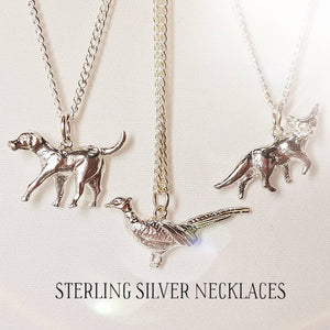Hound Sterling Silver Necklace
