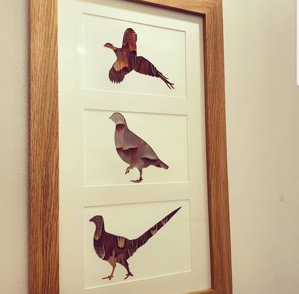 3 Bird Vertical Frame