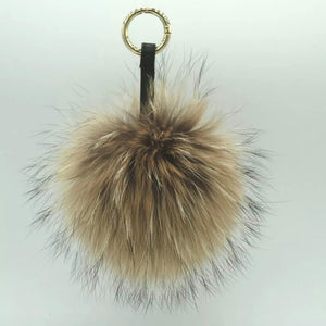Rabbit Fur Keyring