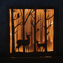 Load image into Gallery viewer, LED Wooden Woodland Night Light