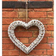 Load image into Gallery viewer, White Willow Hanging Heart -Large