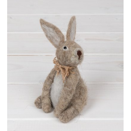 Small Woollen Bunny with Bowtie