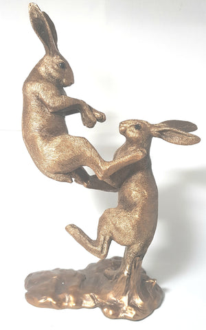 Fighting Hares Bronze Ornament