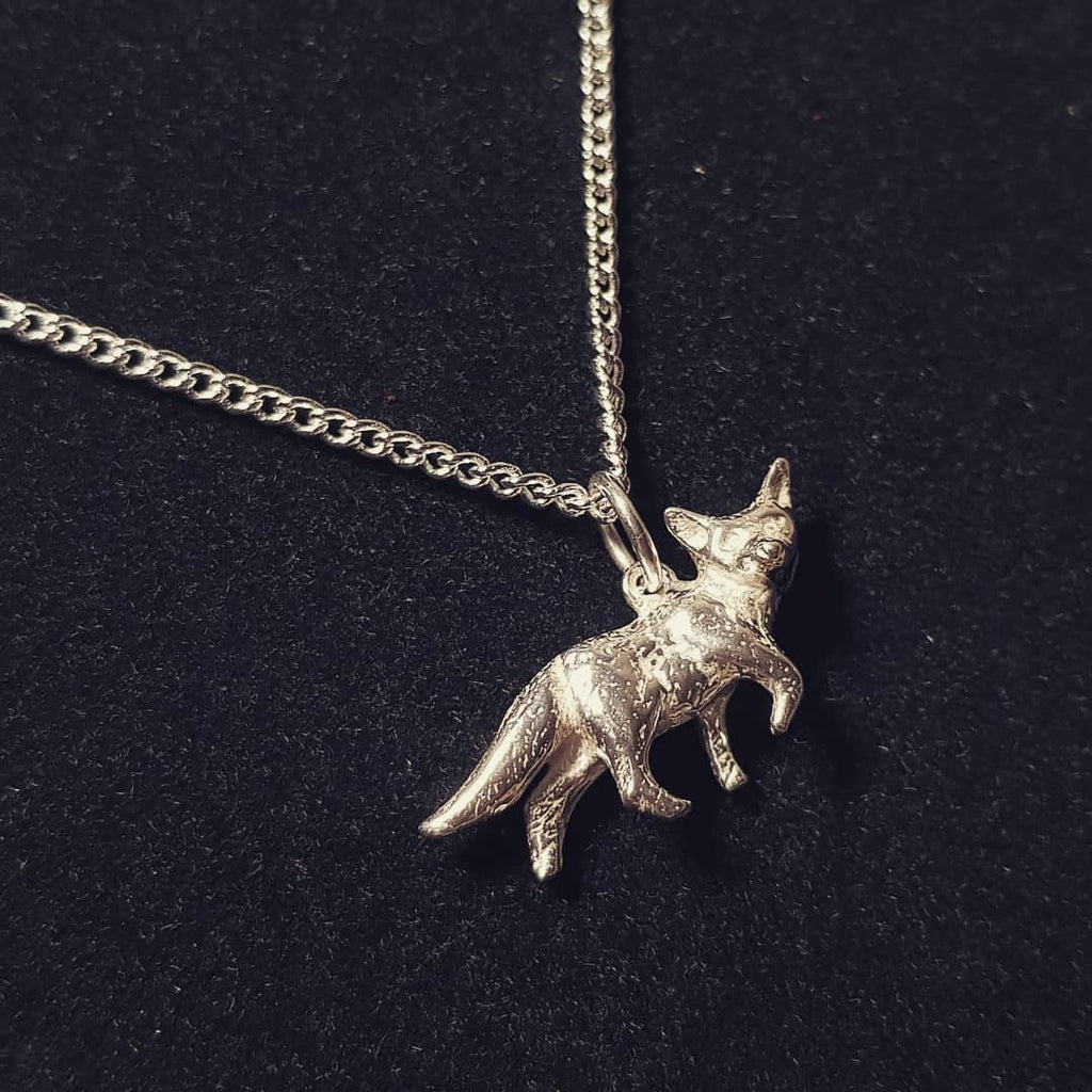 Fox Sterling Silver Necklace