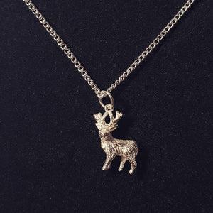 Deer Sterling Silver Necklace