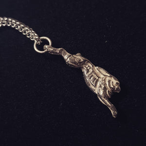 Rabbit Hunting Sterling Silver Necklace