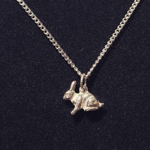 Rabbit Sterling Silver Necklace