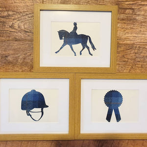 Set of 3 Equestrian Frames (Harris Tweed)