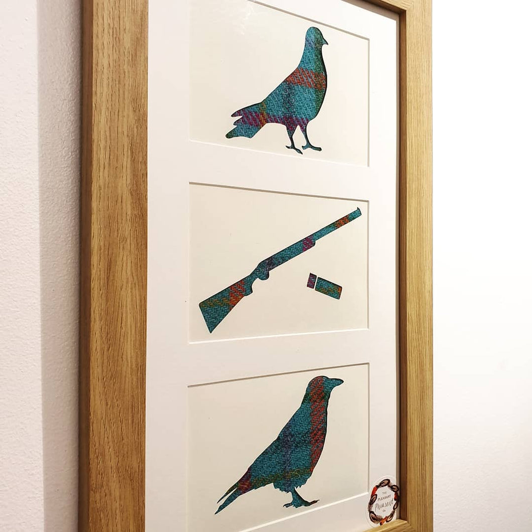 Pigeon, Crow and Shotgun Vertical Frame