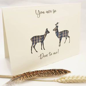 """You are so deer to me"" Card"