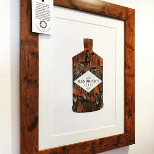 Hendricks Gin A4 mounted, 1 available