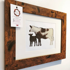 Hair-on-Hide Cow and Calf (Limited Edition)