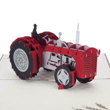 Load image into Gallery viewer, Red Tractor Pop Up Card