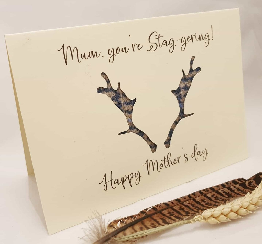 """Mum you're staggering, happy mothers day"" Card"