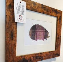 Load image into Gallery viewer, Hedgehog Frame in Harris Tweed (for charity)