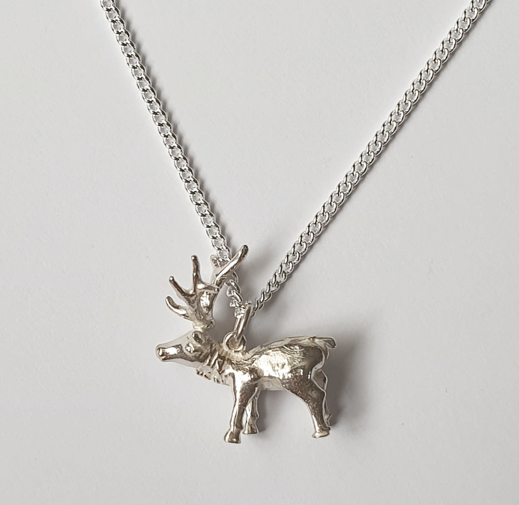 Stag Sterling Silver Necklace