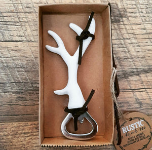 Rustic Antler Bottle Opener