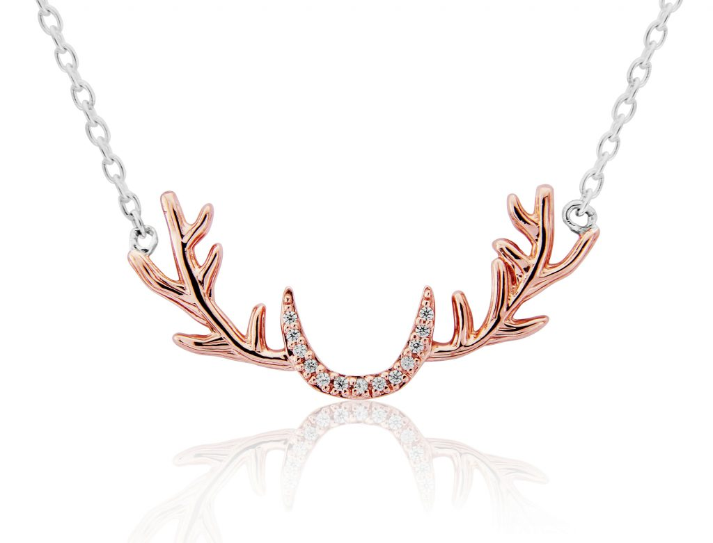 Sparkly Stag Necklace