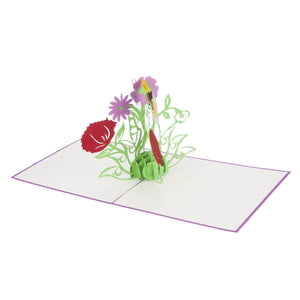 Wildflowers Pop Up Card