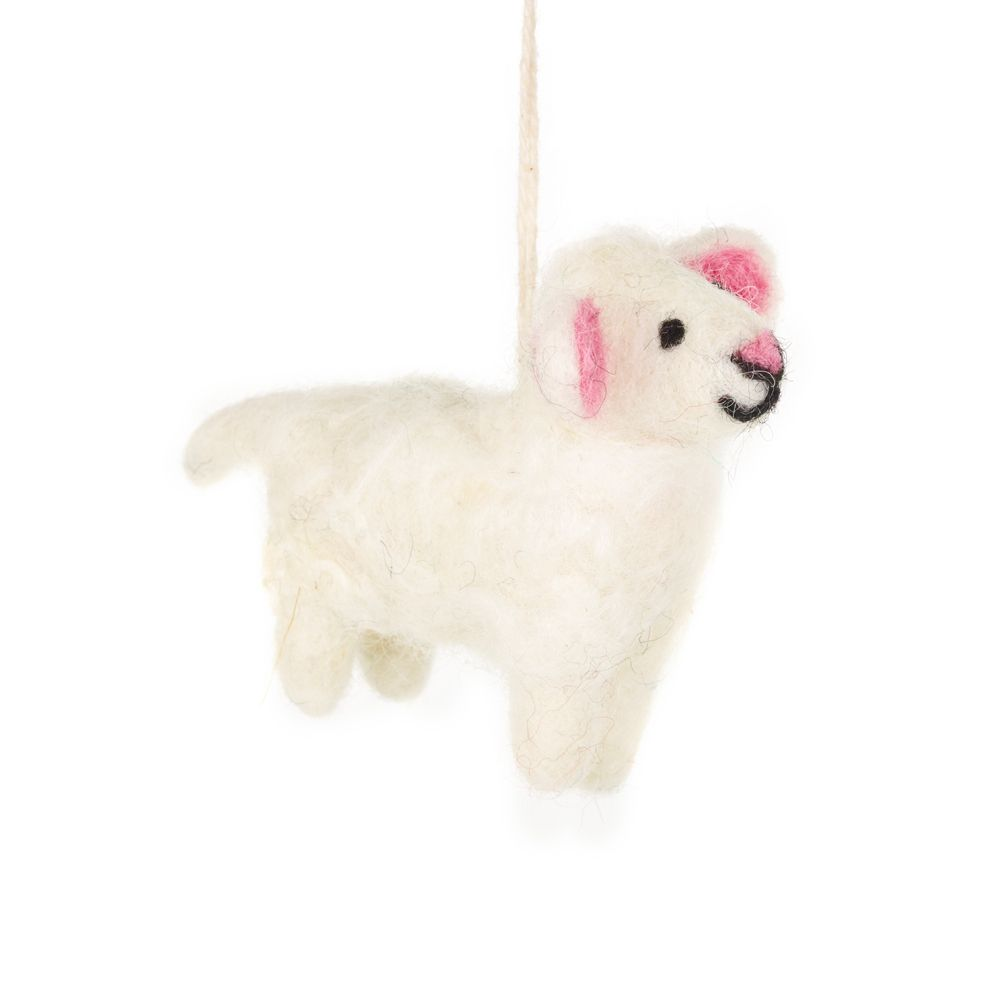 Lulu the Lamb - Felted Hanging Decoration