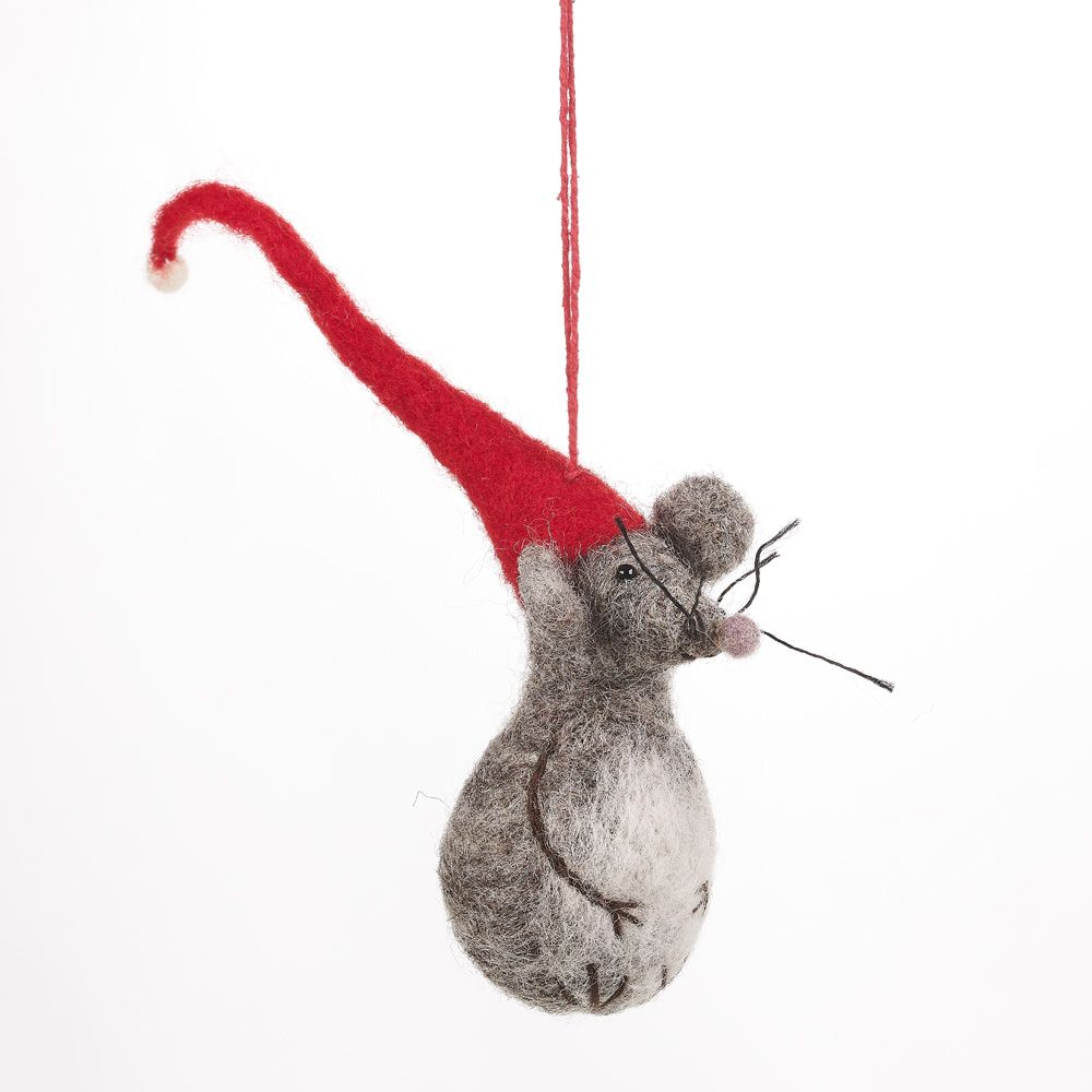 Mouse, Handmade Felted Decoration