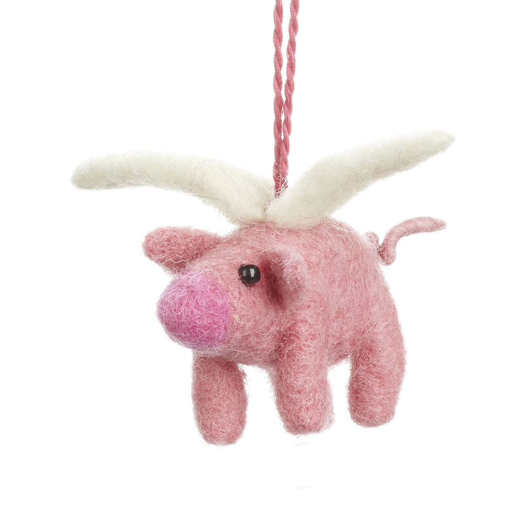 Flying Pig - Felt Hanging Decoration