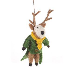 Percy the Stag - Felt Hanging Decoration