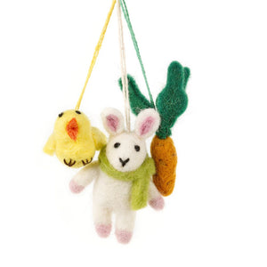 Trio - Felt Hanging Decoration