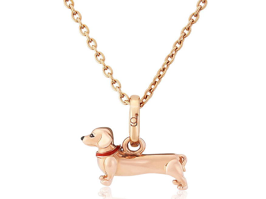 Rose Gold Dachshund Necklace/Charm
