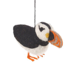 Puffin - Felted Hanging Decoration